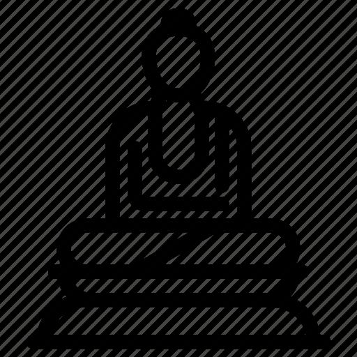 buddha, buddhism, buddhist, pray, religion, religious, vihara icon