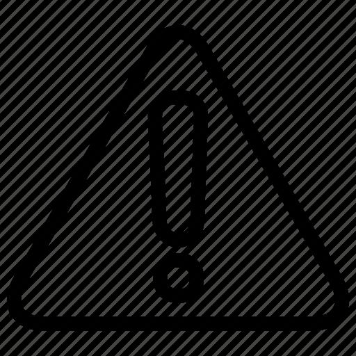 alert, attention, bell, danger, error, warning icon