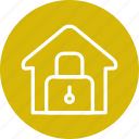 building, home, house, lock, security