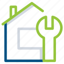 building, construction, estate, home, house, maintanence, tool icon