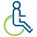 disability, disabled, handicap, handicapped, paralympic, paralympics, wheelchair icon