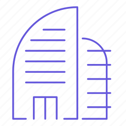 building, business, estate, office, real estate, skyscrapper, work icon