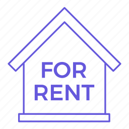 for rent, house, property, real estate, realty, rent, renting icon
