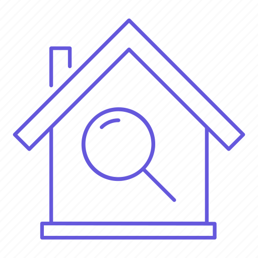 home, house, magnifier, magnifying, property, search, zoom icon