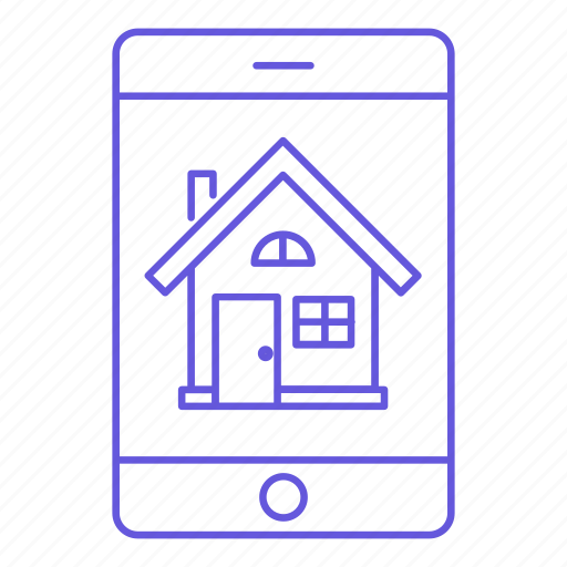 home, house, iphone, mobile, property, real estate, smartphone icon