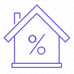 building, discount, home, house, percent, property, sale icon