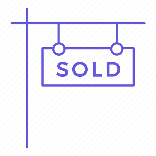 building, estate, house, office, property, real estate, sold icon