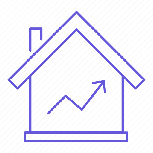 business, house, increase, price, property, sale, value icon