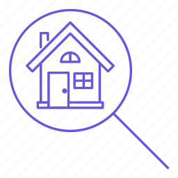 estate, find, house, magnifier, magnifying, mignifier, property, search icon