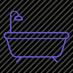 bath, bathroom, shower, wash, water icon