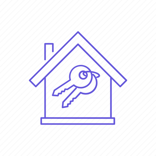 estate, home, house, keys, new, property, real icon