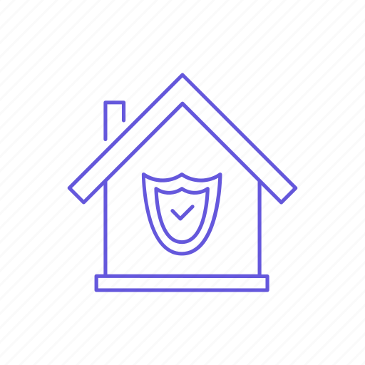 estate, house, property, protect, protection, safety, security icon