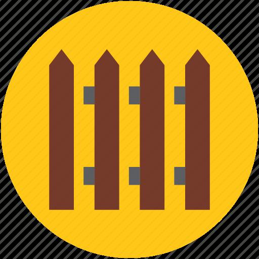 boundary, fence, garden fence, paling, palisade, railing icon