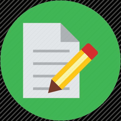 document, edit, pen, text, write, writing icon