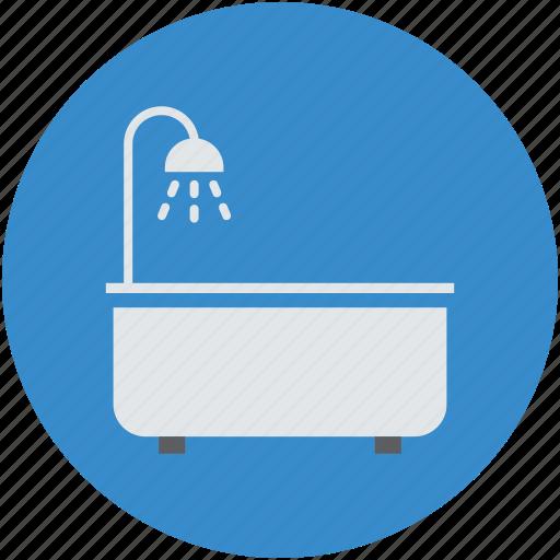 bath tub, bath tub and shower, claw tub with shower, clawfoot tub, jacuzzi tub icon