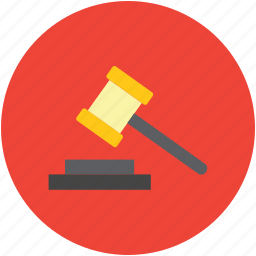 auction symbol, gavel, justice, law symbol, mallet icon