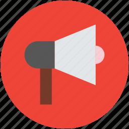 advertisement, announcement, loudspeaker, megaphone, notification icon