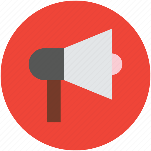 advertisement, announcement, loudspeaker, megaphone, notification icon