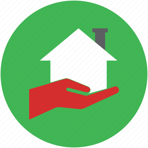 hand holding house, offer, ownership, real estate, savings, secure icon
