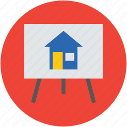 art, artist, canvas, drafting, drawing, easel, house, house plan, sketching icon