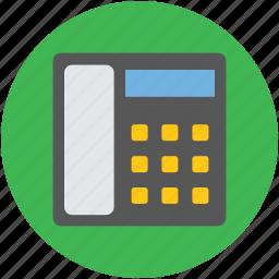 call, communication, landline, telecommunications, telephone, telephone set icon