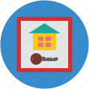 house, key, property, real estate, safe icon