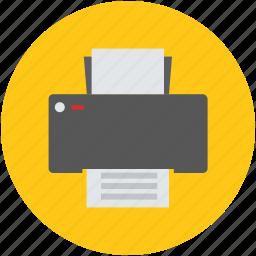 facsimile, fax, fax machine, inkjet printer, print, printer icon