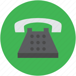 call, communication, landline, retro telephone, telecommunications, telephone set icon