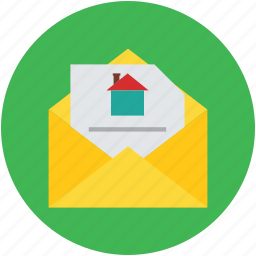 correspondence, email, mail, property document, real estate icon