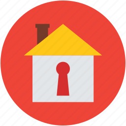 house, keyhole, locked, protected home, real estate, secure icon