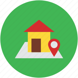 gps, house, house location, map marker, navigation, real estate icon