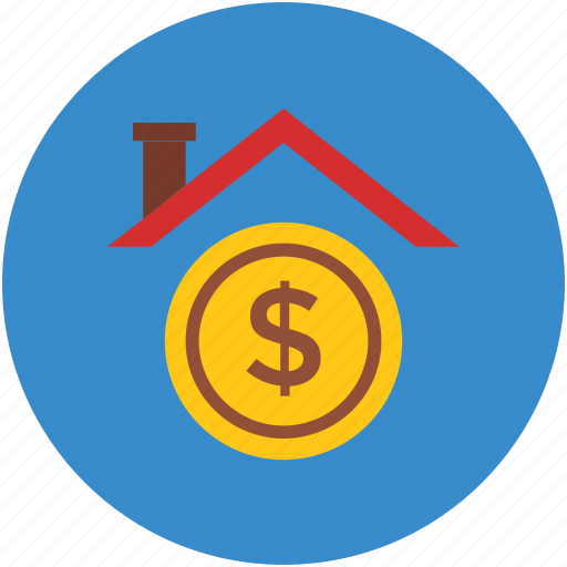 dollar sign, for sale, home, house for sale, property, value icon