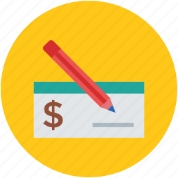 bank slip, pen, receipt, signature, slip, write, writing icon