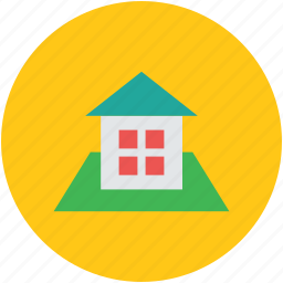 courtyard, estate, home, real, rural house, village house icon