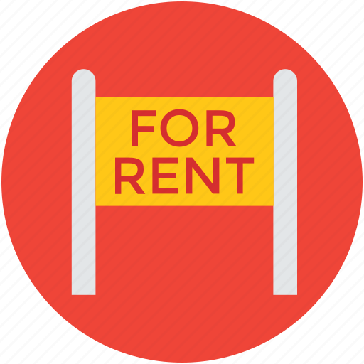 for rent, info, information, message, notice, real estate icon