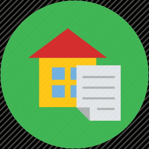 documentation, house, property, property documents, real estate icon