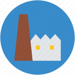 factory, foundry, industry, mill, plant, real estate icon