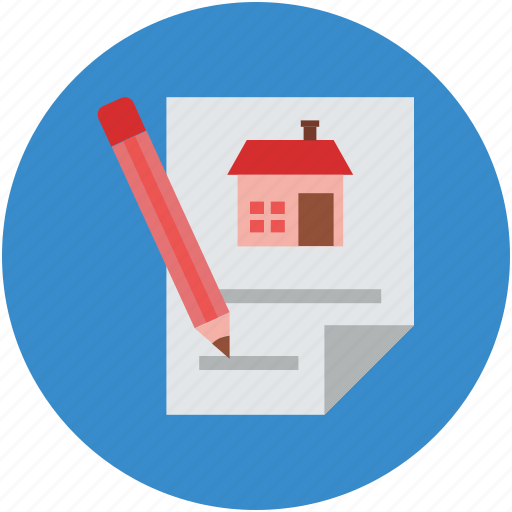 document, pen, property documents, textpad, write icon