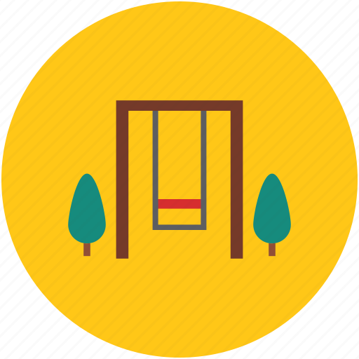 entertainment, fun, garden, swing, swing seat icon