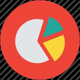 analytics, chart, graph, pie chart, progress icon