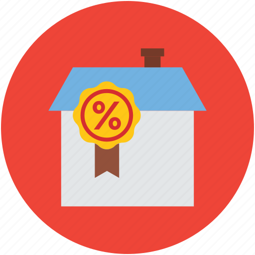 home, percentage sign, property, property for sale, share, value icon