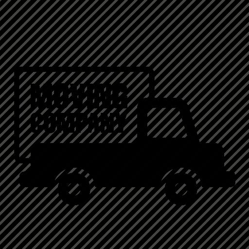 move, moving, transport, transportation, truck, van icon