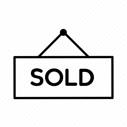 Real, estate, house, signboard, sign, board, home icon