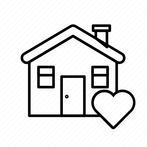 Real, love, estate, house, sale, rent, home icon