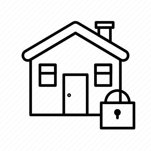 estate, home, house, lock, real, rent, sale icon
