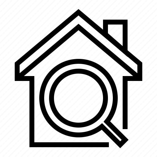 buiding, estate, home, house, property, search icon