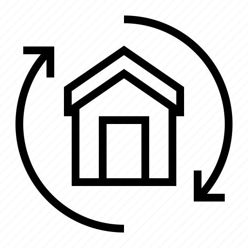 building, estate, home, property, replace icon