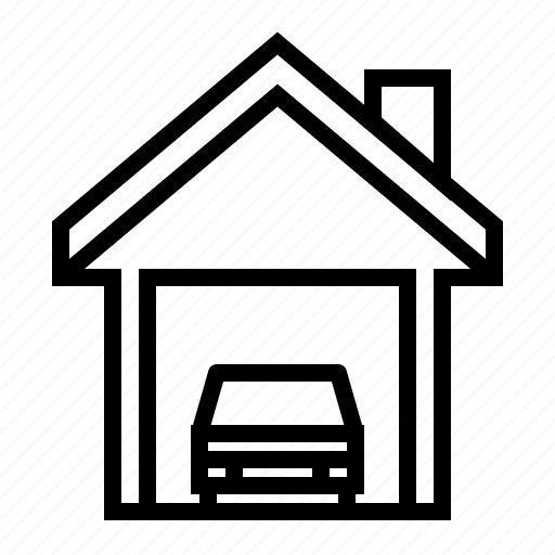 building, estate, garage, home, property icon