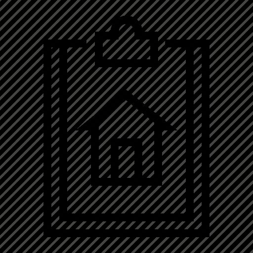 estate, home, property, report icon