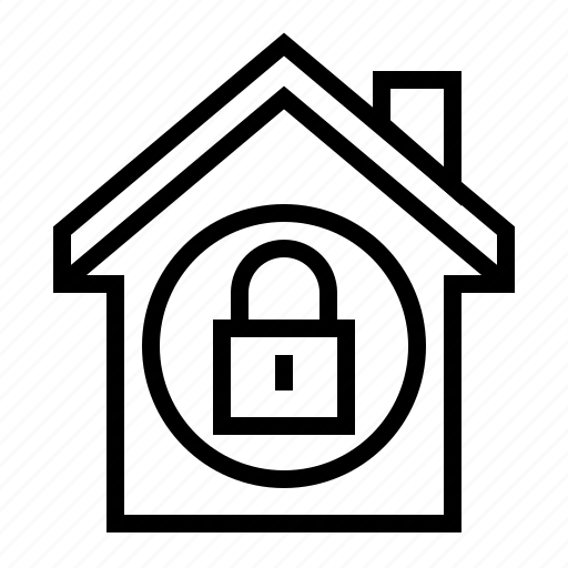 estate, home, lock, property, secure icon
